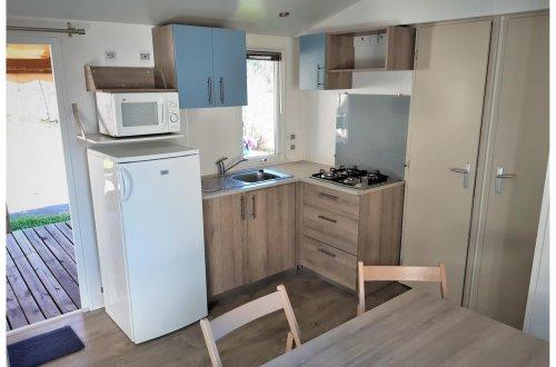 Keuken Mobil Home Laurier 3 slaapkamers Camping Domaine de gaujac