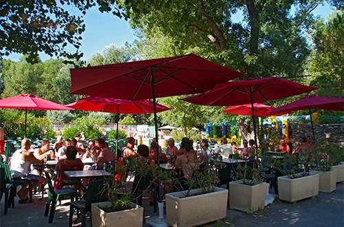 Restaurant Snackbar op Camping Domaine de Gaujac