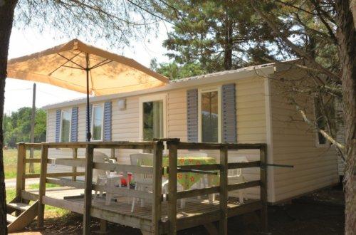Stacaravan Laurier 3 slaapkamers Camping Domaine de gaujac