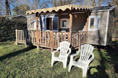 Stacaravan Lilas lounge 2 slaapkamers Camping Domaine de gaujac