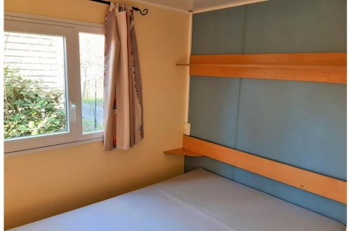 Chambre parentale Mobil Home Lilas 2 chambres Camping Domaine de gaujac