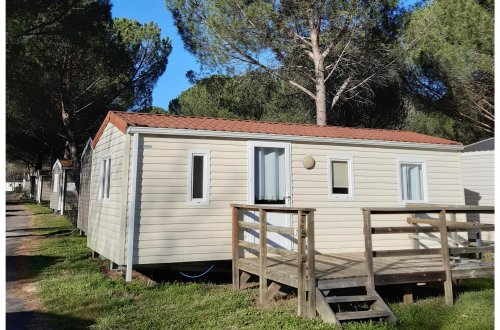 Mobil Home Crocus 2 chambres Camping Domaine de gaujac