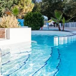 Verwarmd zwembad Camping Domaine de Gaujac