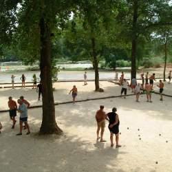 Velden en petanque-wedstrijd Camping Domaine de Gaujac