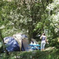 Standplaats kampeertent Domaine de Gaujac