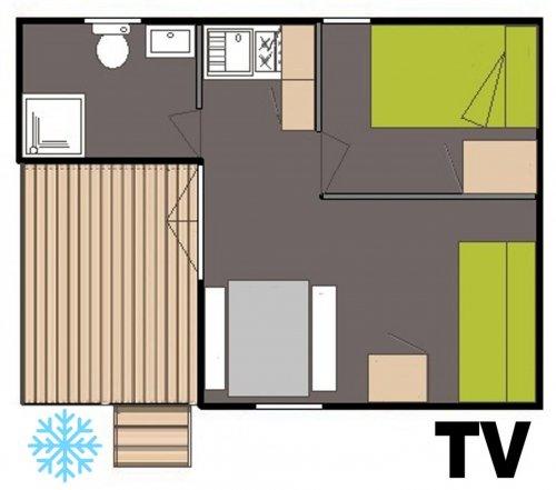 Plan chalet colline Agapanthe Clim et Tv