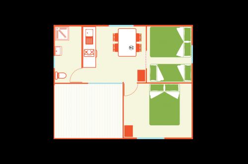 Plan chalet crepis